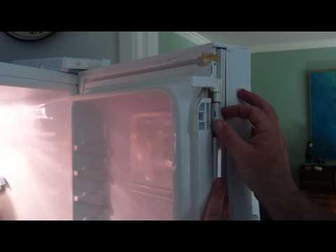GE Profile French door bottom freezer Model # PFS22MISBWW - door gasket replacement