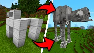 How To Spawn AT-AT In Minecraft Pocket Edition! (Star Wars Addon)