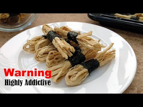 Highly Addictive Snack: Roasted Seaweed Fish Strips | MyKitchen101en