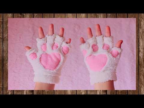 Cat Paw Gloves for women