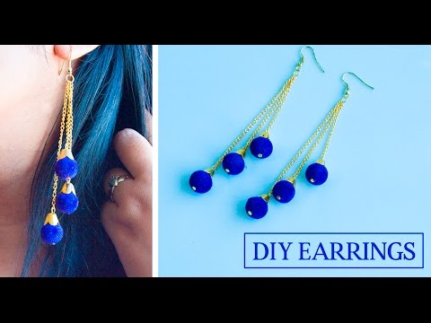 How to make earrings at home | DIY earrings | jewelry making | Beads art