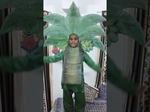 Fancy dress as a tree - nature, fancy dress competition - Save Trees Save Earth