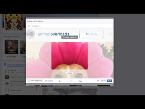 How to update your profile picture on facebook without anyone getting a notification