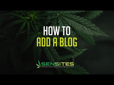How to Add A Blog to Your Dispensary Website Theme - Sensites