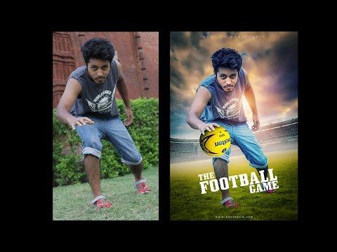 The Football Game | Photo Manipulation Photoshop Tutorials