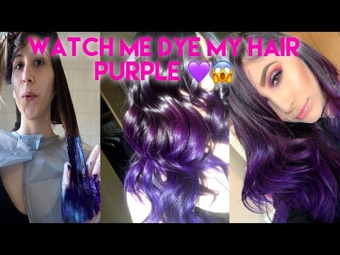 OMG I Dyed My Hair Purple At Home! DIY *No bleach*