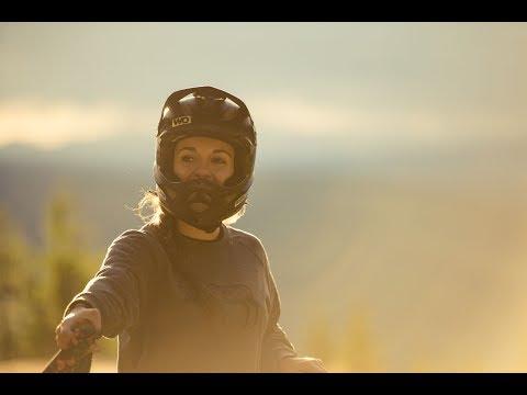 Veronique Sandler rides Hafjell Bike Park