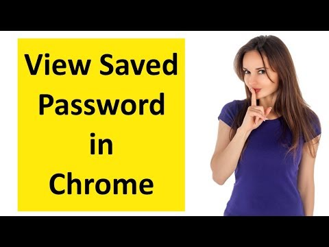 How to View saved passwords in chrome browser