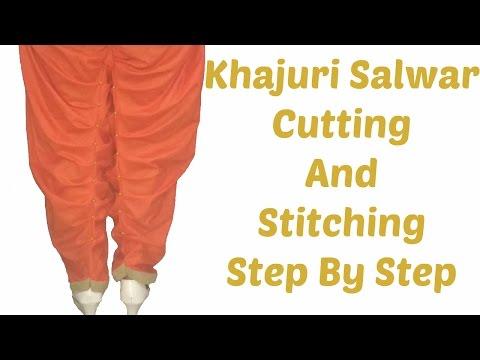Khajuri Salwar - Cutting And Stitching Step By Step