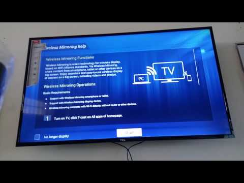 Mirror Screen PC and TCL Smart TV
