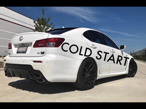 Lexus IS-F Cold Start | 4 DEGREE FREEZING WEATHER |