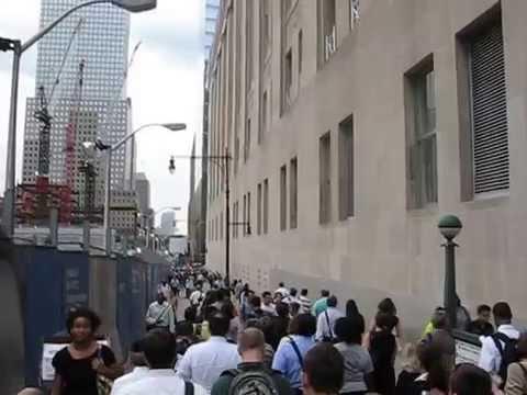 NYC - Rush Hour at Ground Zero area
