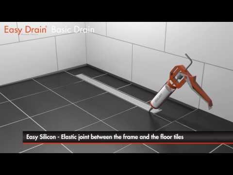 Linear shower drain installation - Easy Drain Basic Drain (English)