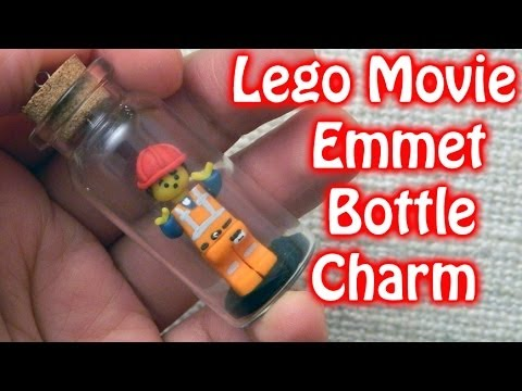DIY LEGO FIGURINE WITH CLAY Bottle Charm Polymer Clay Tutorial