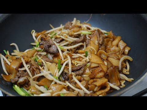 Stir-fried Rice Noodles with Beef Recipe (Ho Fun) - Chow Fun - Morgane Recipes
