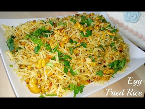 Egg Fried Rice-Indian Style | HomeStyle Egg Rice