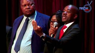 Chamisa Addressing  During Body Viewing For Vimbai Tsvangirayi Java