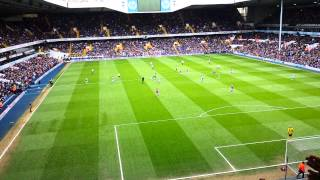 Aston Villa Fans Away v Tottenham Singing 2014