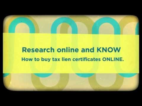 How To Buy Tax Lien Certificates Online - What I need to Know. . .