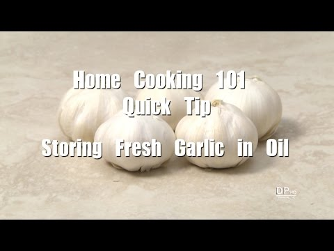 Making and Storing Fresh Minced Garlic in Oil (Home Cooking 101 Quick Tip)