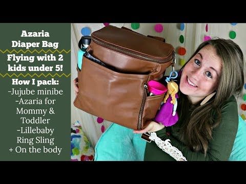 Azaria Diaper bag! Flying with 2 kids under 5!