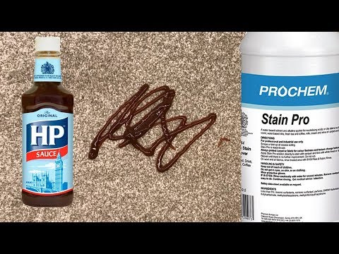 How to remove a brown sauce stain from carpet with Prochem Stain Pro