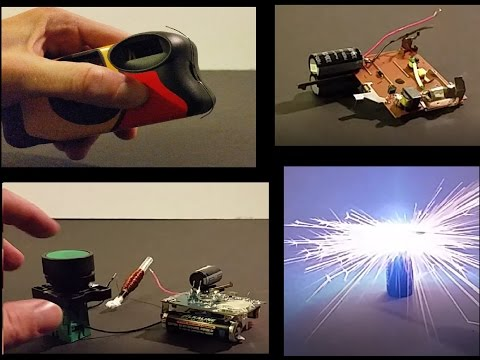 HACK How to make a Taser and Coil Gun from a disposable camera