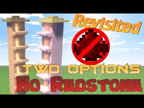 How to Build an Elevator in Minecraft NO REDSTONE thats SUPER FAST | Revisited | 2 Designs 1 Video