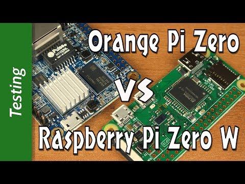 Orange Pi Zero VS Raspberry Pi Zero W: CPU, WEB, Gimp, KODI, WiFi