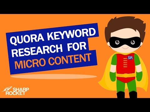 Quora Keyword Research for Micro Content
