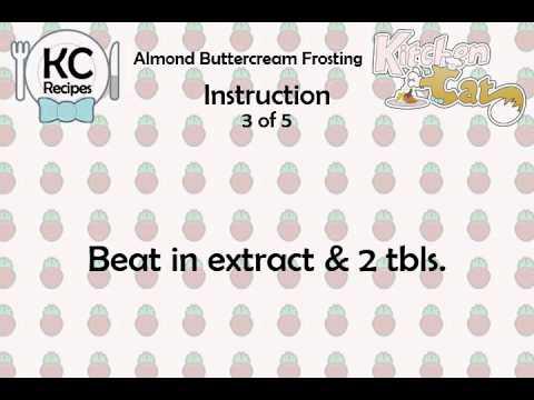 Almond Buttercream Frosting - Kitchen Cat