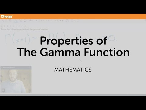 Properties of the Gamma Function | Math | Chegg Tutors