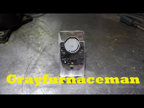 How to adjust the Honeywell fan and limit switch