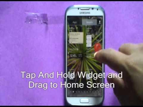 How to Add Widget On Homescreen Samsung Galaxy S4