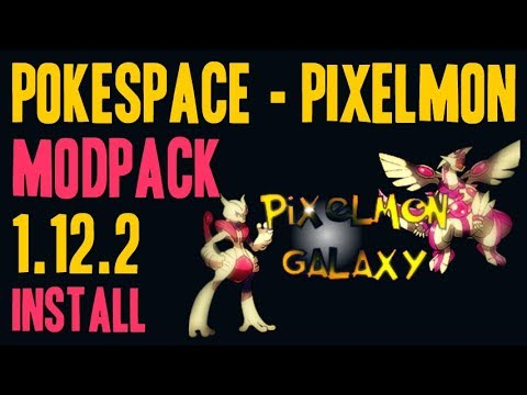 POKESPACE PIXELMON MODPACK 1.12.2 minecraft - how to download and install PokeSpace-Pixelmon 1.12.2