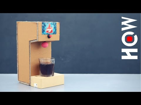 How to Make Soda Fountain Machine From Cardboard at Home
