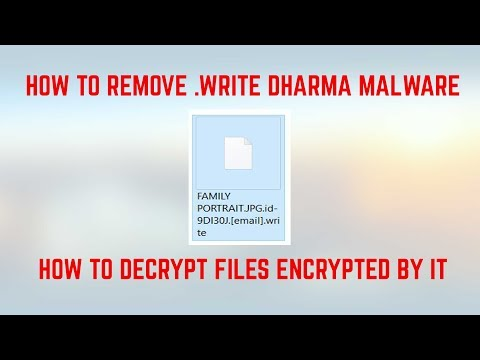 .write Files Virus - How to Remove and Restore/Open Files (2018)