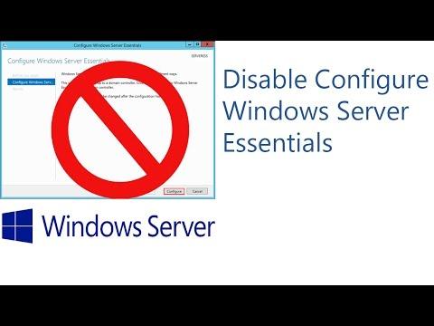 Disable Configure Windows Server Essentials Wizard on Startup