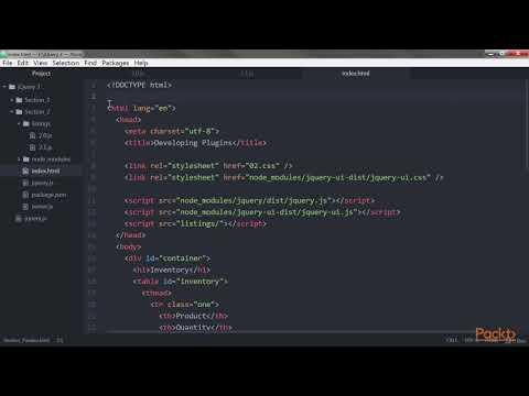 Advanced JQuery 3 : Adding New Global Functions | packtpub.com