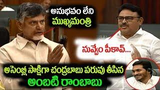 Ambati Rambabu strong counter to Chandrababu Naidu in Assembly || iMedia