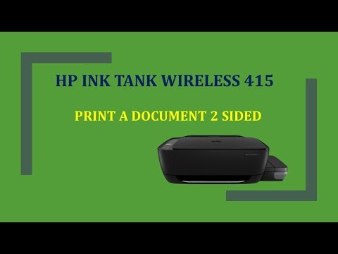 HP Ink Tank Wireless 415 | 419 | 418 | 410 : Print a document 2 sided