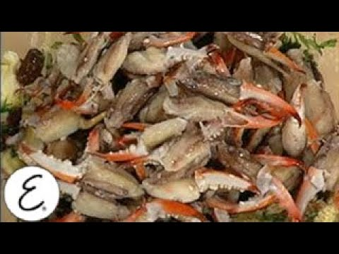 Marinated Crab Claws in Spring Greens
