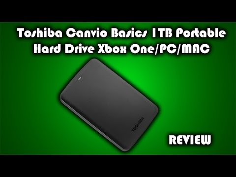 Toshiba Canvio Basics USB 3.0 1TB Portable Hard Drive Xbox One/PC/MAC Review
