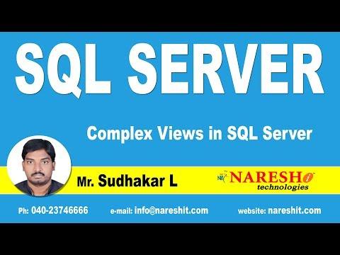 Complex Views in SQL Server | MSSQL Training | Mr.Sudhakar L