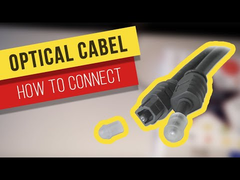How to connect optical cabel to Samsung TV / Soundbar