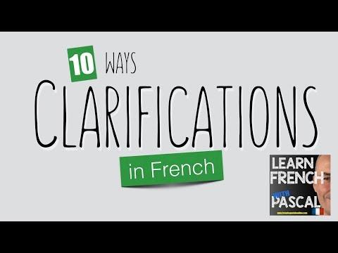 10 ways clarifications french