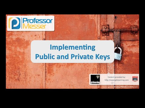 Public and Private Keys - CompTIA Security+ SY0-401: 6.3