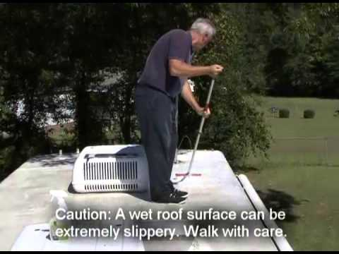 Cleaning & Protecting RV Roof - Dicor