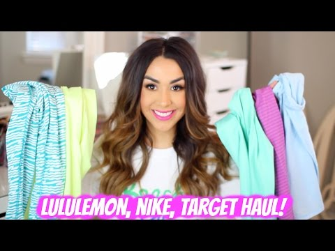 TRY ON WORKOUT CLOTHES HAUL: Lululemon, Nike, Target!