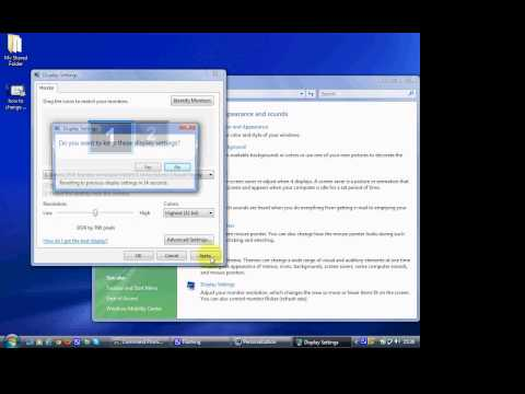 how to change resolution on Windows Vista and 7